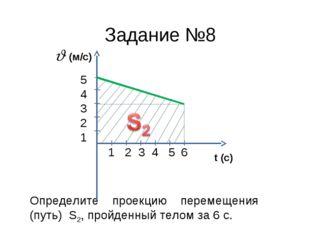 Определите проекцию перемещения (путь) S2, пройденный телом за 6 с. 1 2 3 4