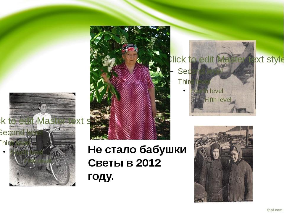 Не стало бабушки Светы в 2012 году.