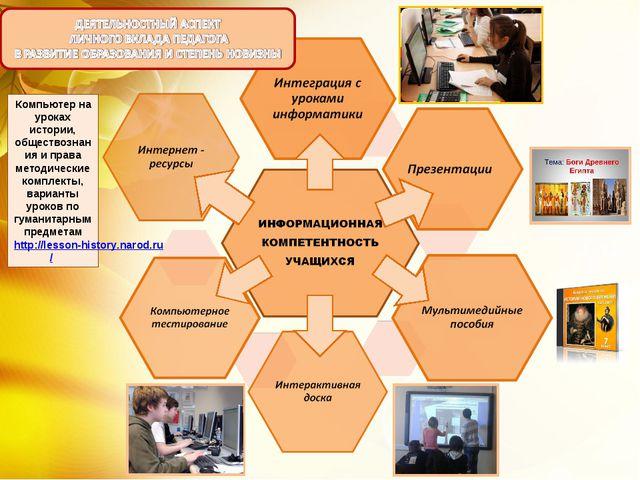 Компьютер на уроках истории, обществознания и права методические комплекты, в...