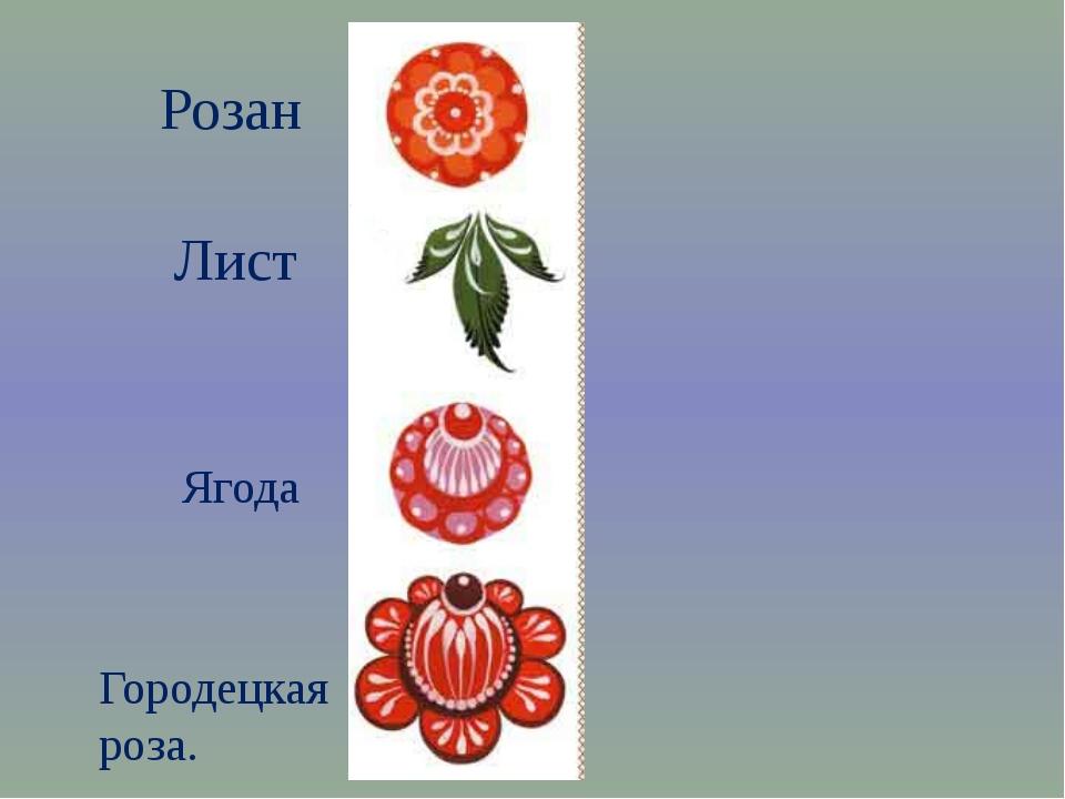 Розан Лист Ягода Городецкая роза.