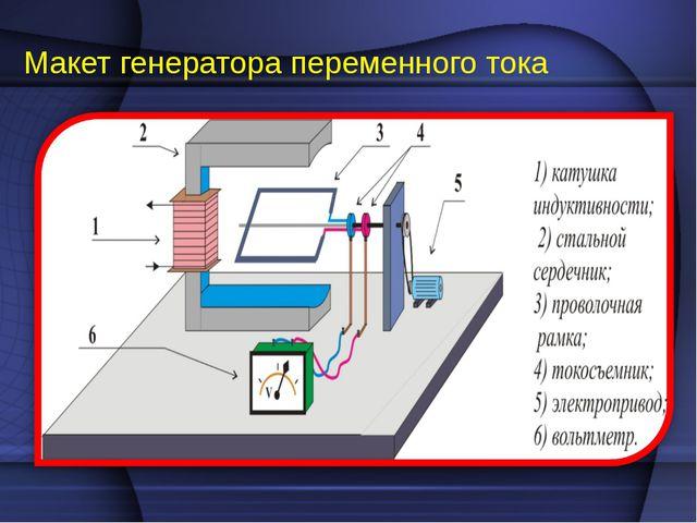 Макет генератора переменного тока