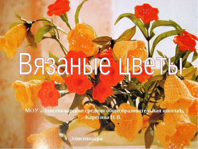 МОУ «Элисенваарская средняя общеобразовательная школа» Каретина Н.В. Элисенва...
