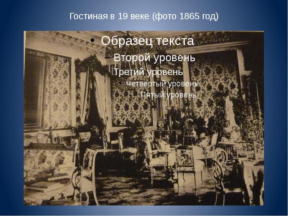 Гостиная в 19 веке (фото 1865 год)