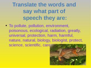 To pollute, pollution, environment, poisonous, ecological, radiation, greatly
