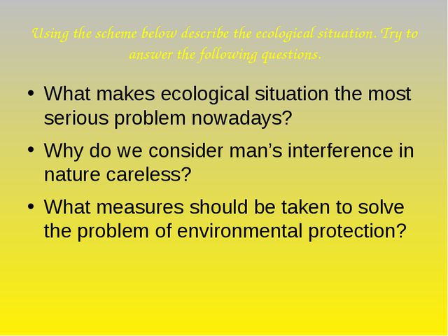 Using the scheme below describe the ecological situation. Try to answer the f...