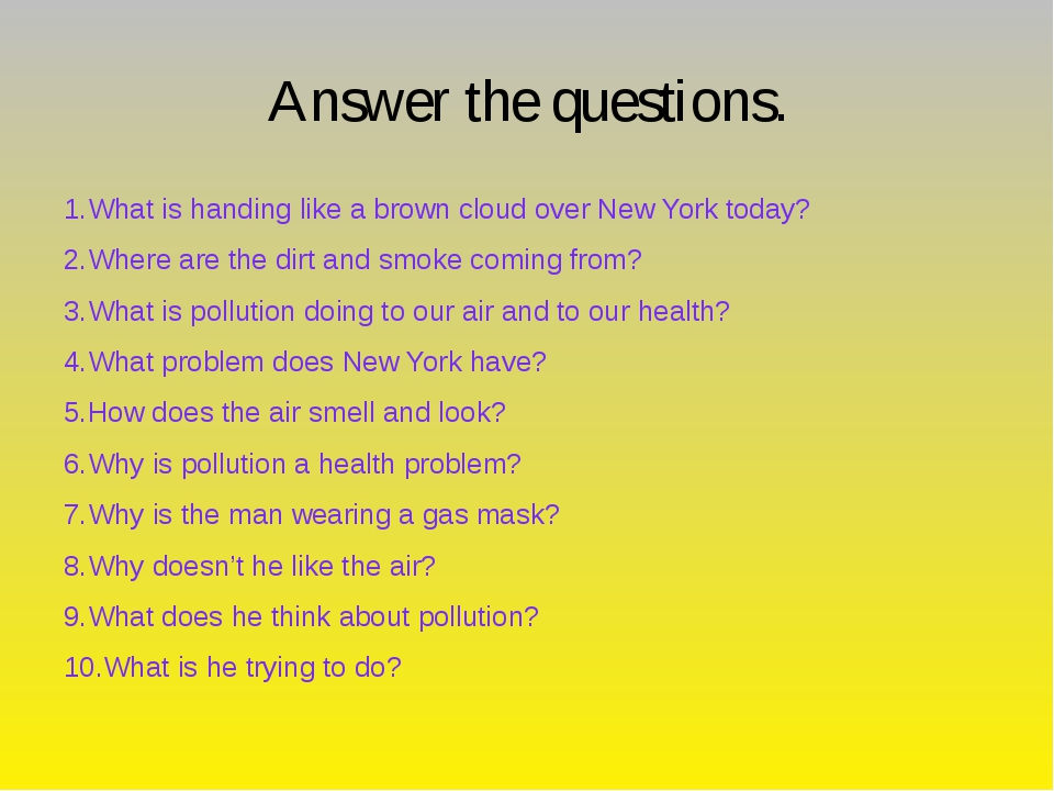 Answer the questions. 1.What is handing like a brown cloud over New York tod...