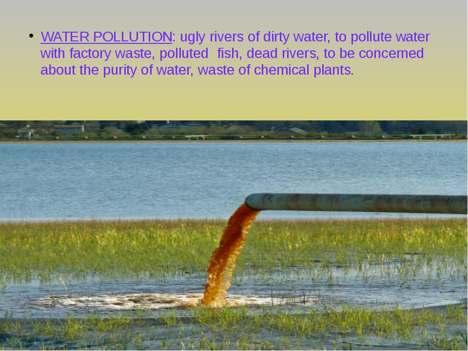 WATER POLLUTION: ugly rivers of dirty water, to pollute water with factory wa...