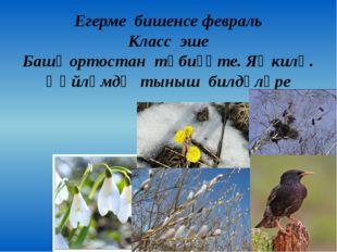 Егерме бишенсе февраль Класс эше Башҡортостан тәбиғәте. Яҙ килә. Һөйләмдә тын
