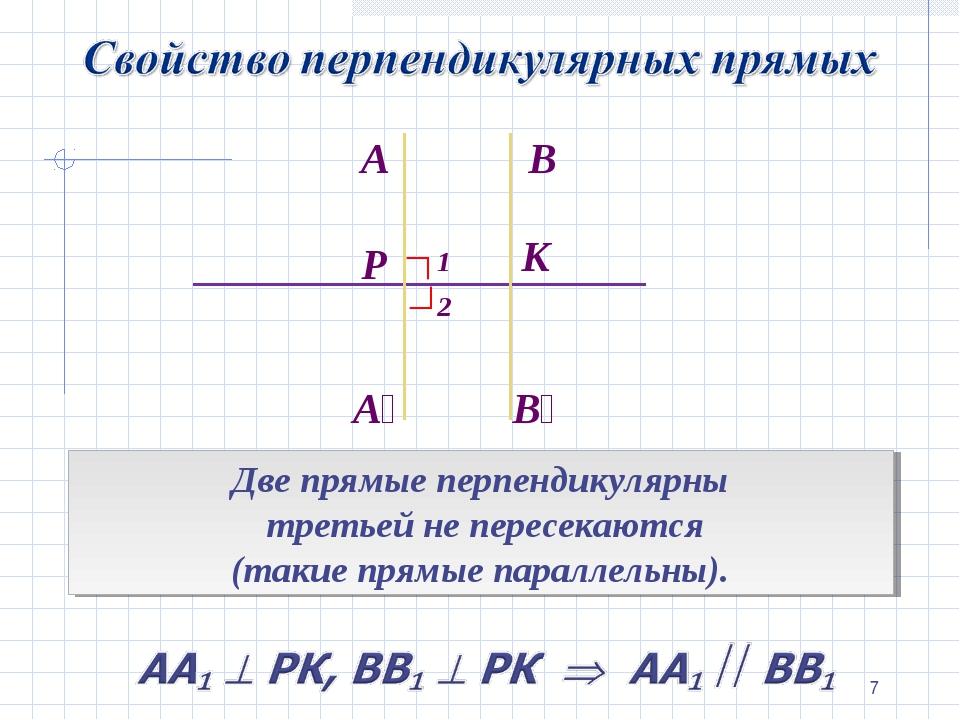 * В₁ ∟ 1 2 Две прямые перпендикулярны третьей не пересекаются (такие прямые п...