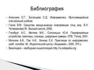 Алексеев Е.Г., Богатырев С.Д. Информатика. Мультимедийный электронный учебник