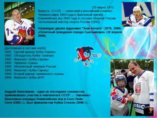 Андре́й Васи́льевич Николи́шин (25 марта 1973, Воркута, СССР) — советский и р