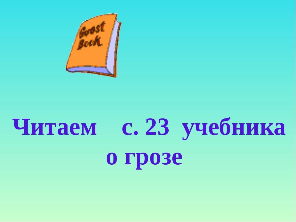 Читаем с. 23 учебника о грозе