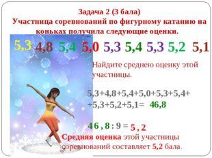 Задача 2 (3 бала) Участница соревнований по фигурному катанию на коньках полу