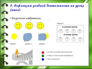 9. Рефлексия учебной деятельности на уроке (итог). Рисуночное изображение.