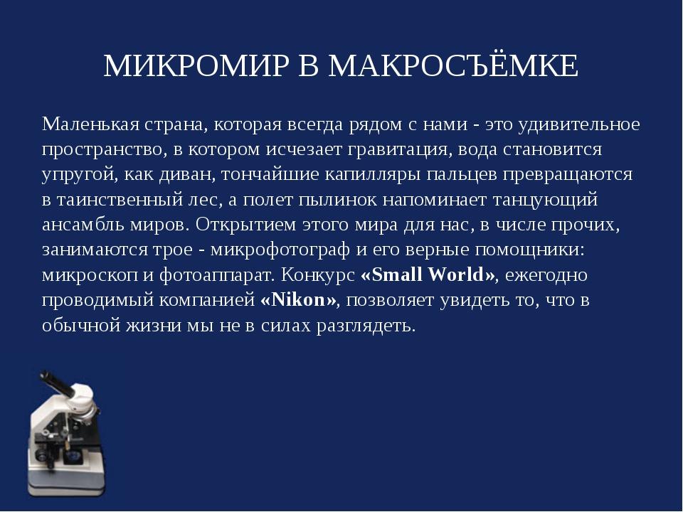 МИКРОМИР В МАКРОСЪЁМКЕ Маленькая страна, которая всегда рядом с нами - это уд...