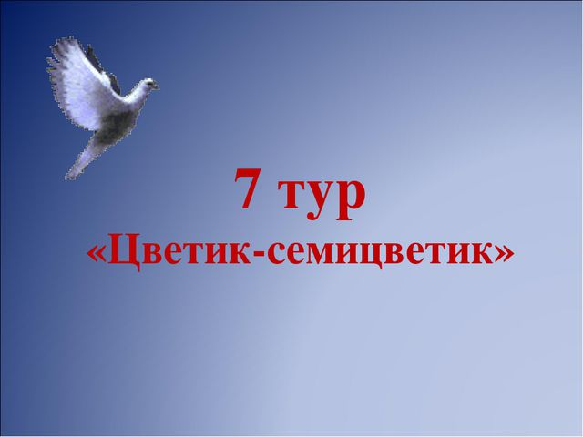 7 тур «Цветик-семицветик»