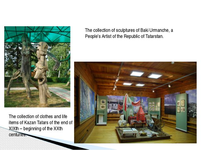 The collection of sculptures of Baki Urmanche, a People's Artist of the Repu...