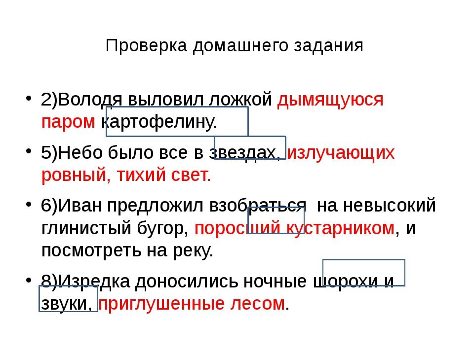 Проверка домашнего задания 2)Володя выловил ложкой дымящуюся паром картофелин...