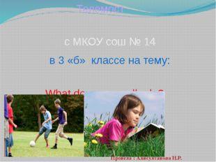 Телемост с МКОУ сош № 14 в 3 «б» классе на тему: What do you usually do? Пров
