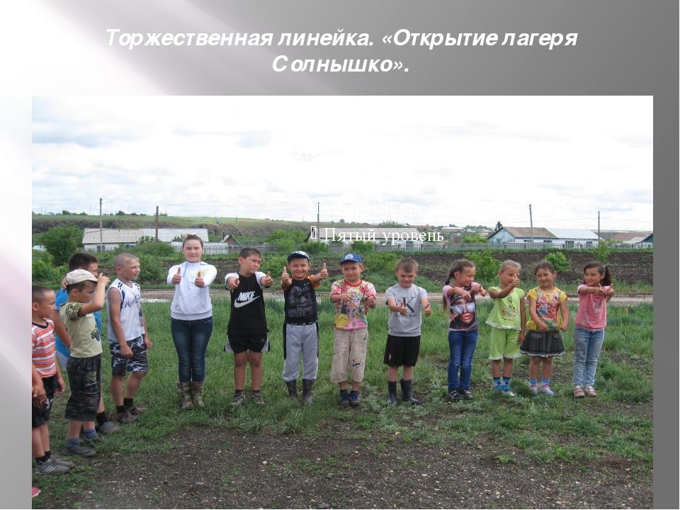 Торжественная линейка. «Открытие лагеря Солнышко».