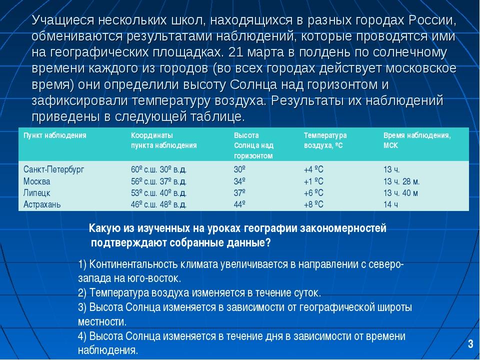 Учащиеся нескольких школ, находящихся в разных городах России, обмениваются р...