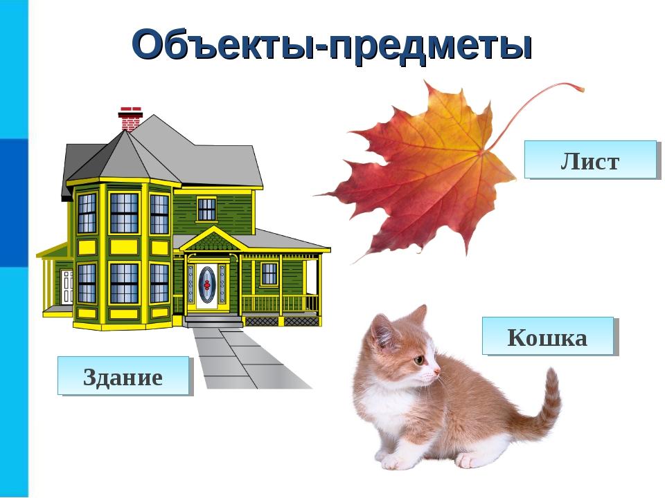 Объекты-предметы Здание Лист Кошка