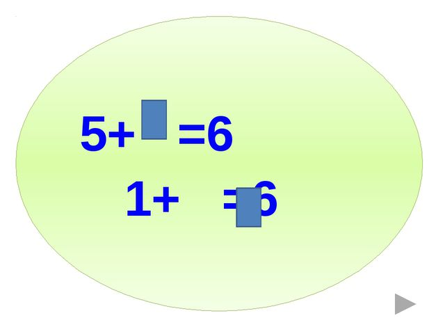 5+ =6 1+ =6