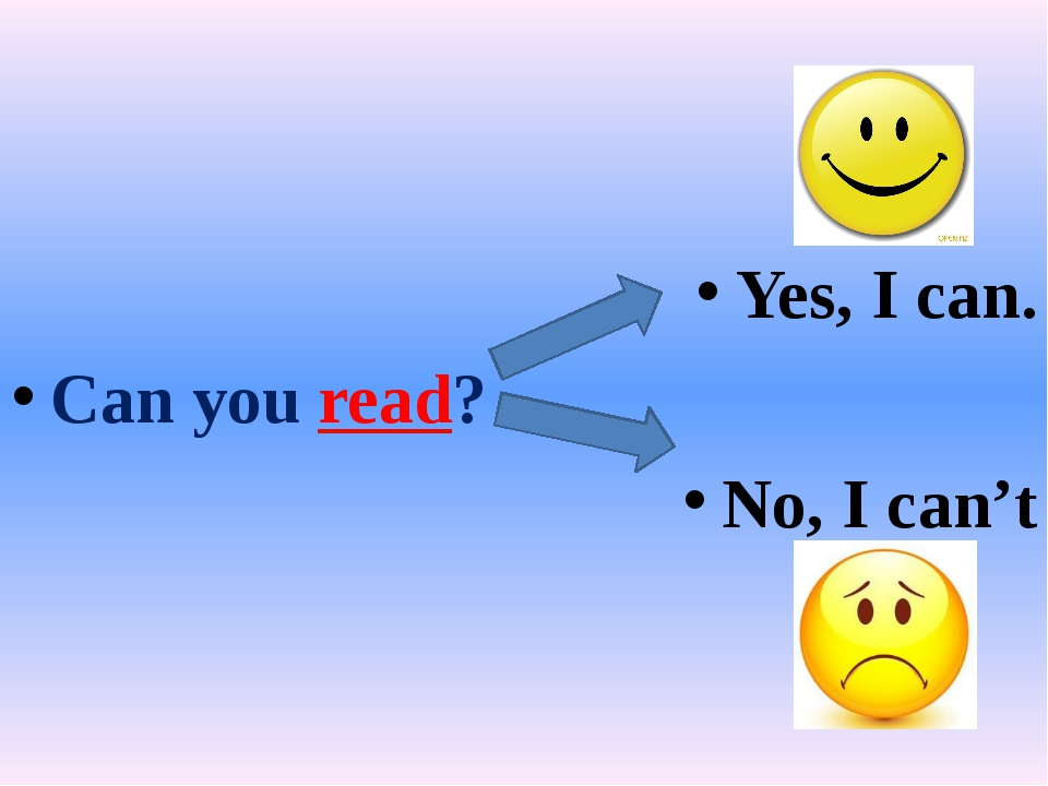 Yes, I can. Can you read? No, I can't