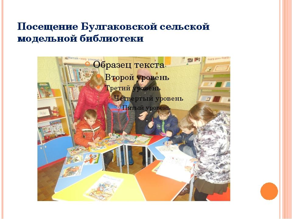 Посещение Булгаковской сельской модельной библиотеки