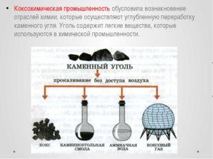Коксохимическая промышленность обусловила возникновение отраслей химии, котор