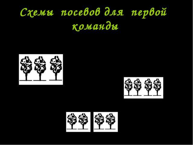 Схемы посевов для первой команды 70-10-10-30-10-10-70 70-40-40-70 70-15-30-15...