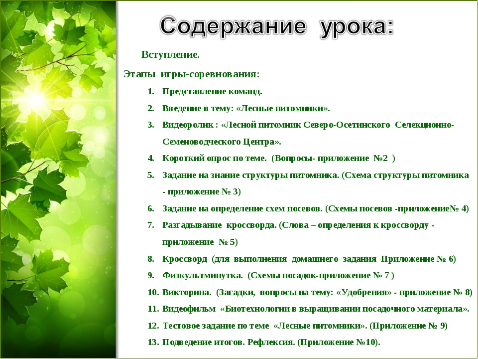 Вступление. Этапы игры-соревнования: Представление команд. Введение в тему:...
