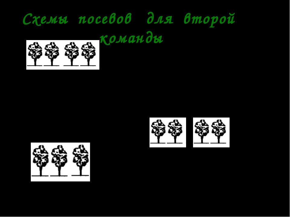 Схемы посевов для второй команды 1. 70-25-25-25-70 2. 70-10-25-10-25-10-70 3....