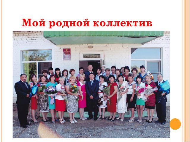 Мой родной коллектив
