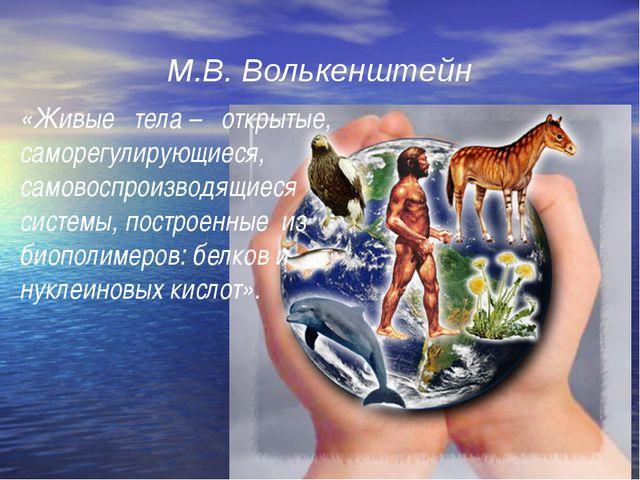 М.В. Волькенштейн