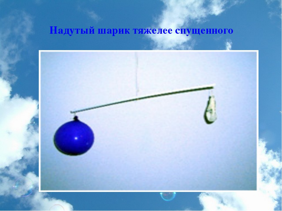 Надутый шарик тяжелее спущенного