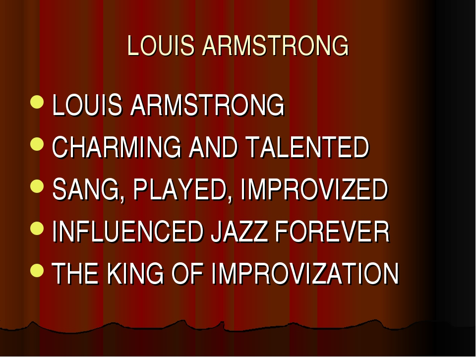 LOUIS ARMSTRONG LOUIS ARMSTRONG CHARMING AND TALENTED SANG, PLAYED, IMPROVIZE...