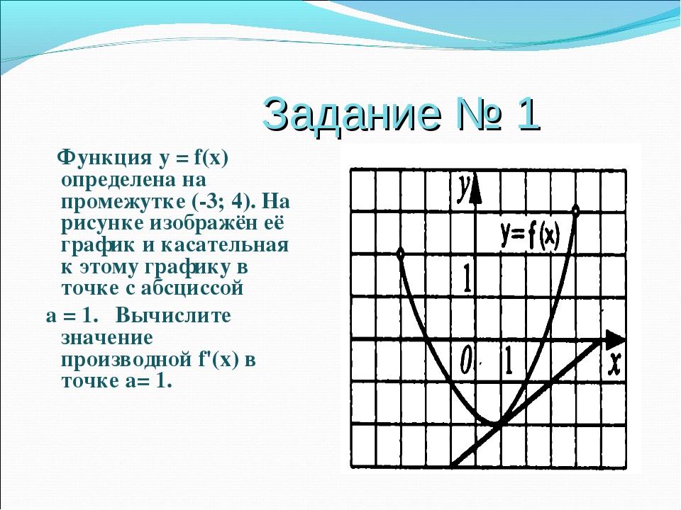 Задание № 1 Функция у = f(x) определена на промежутке (-3; 4). На рисунке из...