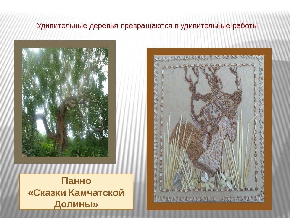 Удивительные деревья превращаются в удивительные работы Панно «Сказки Камчатс...