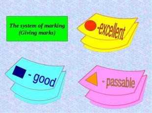 The system of marking (Giving marks)