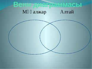 Венн диаграммасы Мұғалжар Алтай