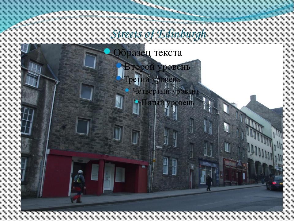 Streets of Edinburgh