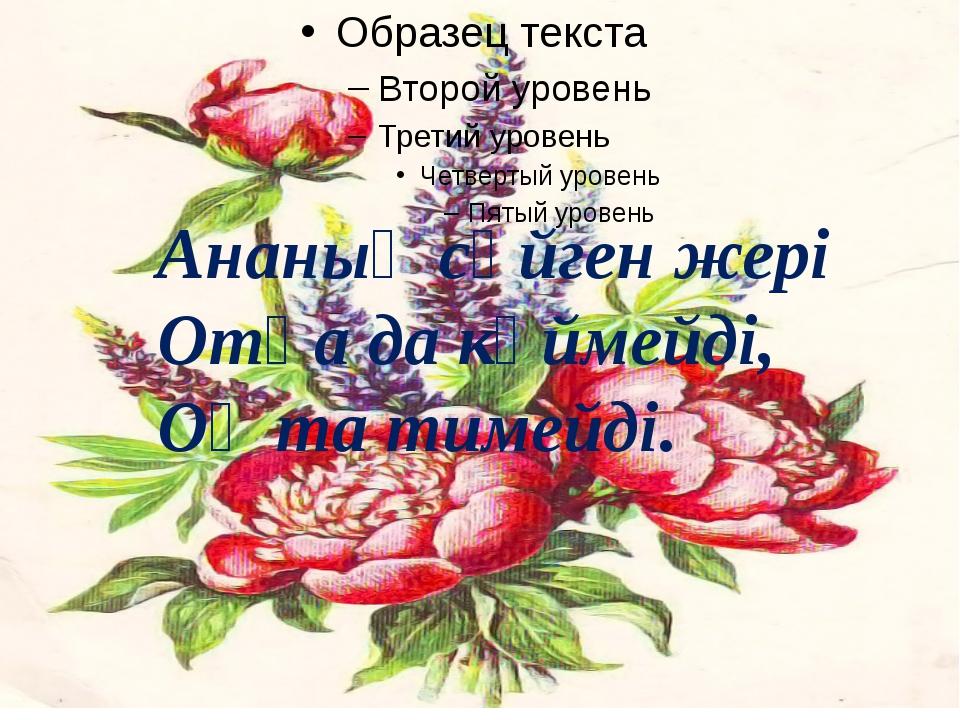 Ананың сүйген жері Отқа да күймейді, Оқ та тимейді.