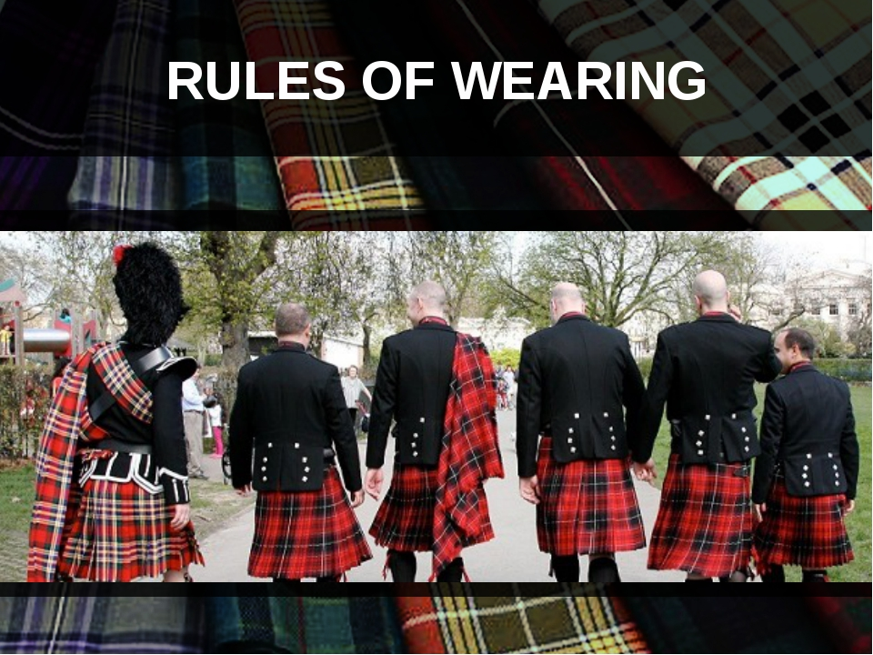 RULES OF WEARING