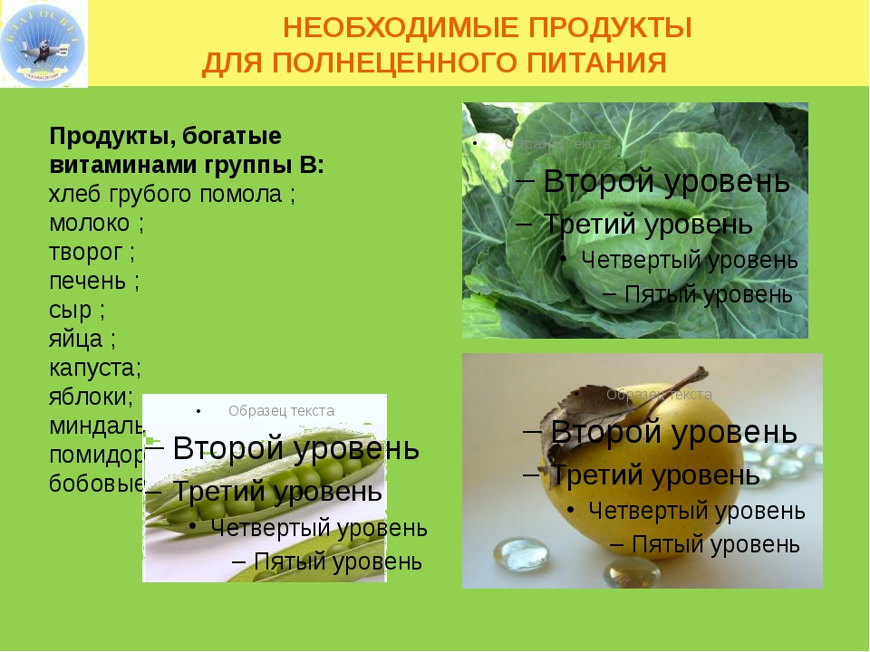 НЕОБХОДИМЫЕ ПРОДУКТЫ ДЛЯ ПОЛНЕЦЕННОГО ПИТАНИЯ Продукты, богатые витаминами г...
