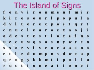 The Island of Signs