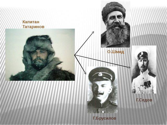 Капитан Татаринов О.Шмид Г.Седов Г.Брусилов