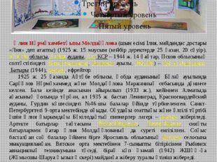 «Ә.Молдағұлова -90 жыл» Кітап көрмесі Әлия Нұрмұхамбетқызы Молдағұлова (шын е