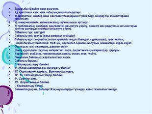 Тақырыбы: Шеңбер және дөңгелек. Құзіреттілікке жеткізетін сабақтың мақсат-мін
