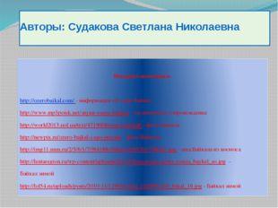 Авторы: Судакова Светлана Николаевна Интернет-источники: http://ozerobaikal.c